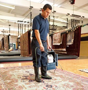 Rug Fiber Protector Application
