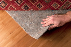 custom area rug pad under rug