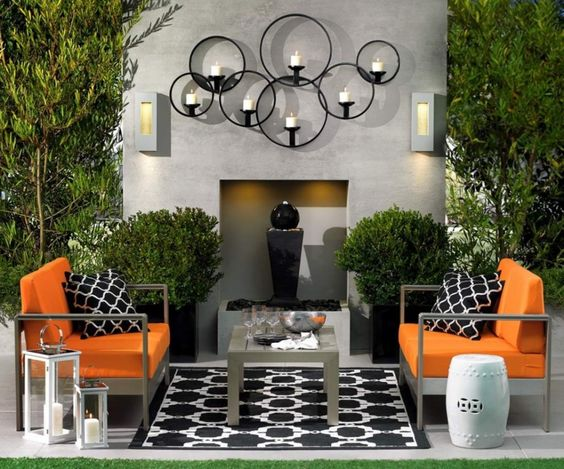 Orange and Black Patio