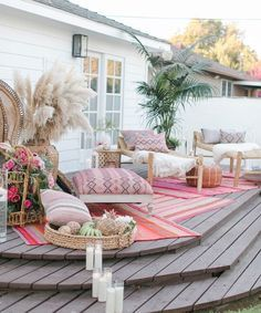 Pink Layered Outdoor Rugs
