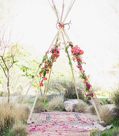 Teepee Wedding With Rugs