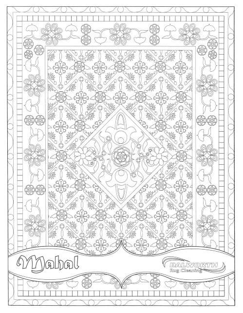 Dalworth Rug Cleaning Coloring Book Page 1