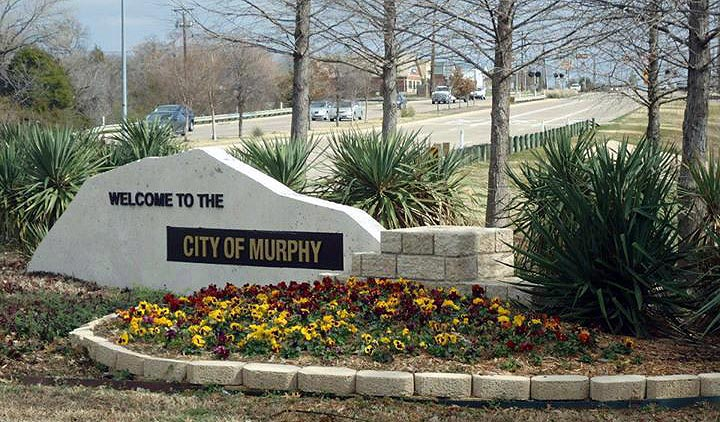 The city of Murphy welcome sign