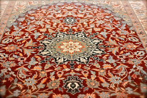 a hand hooked oriental rug
