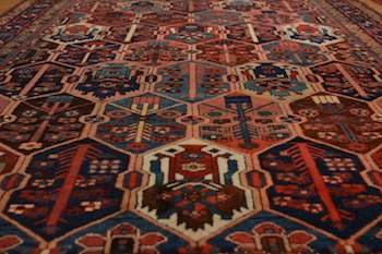 colorful persian rug cleaned by dalworth rug cleaning