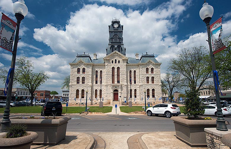 The Granbury, TX Courthouse.