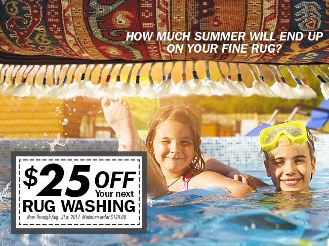 july-august rug cleaning promo